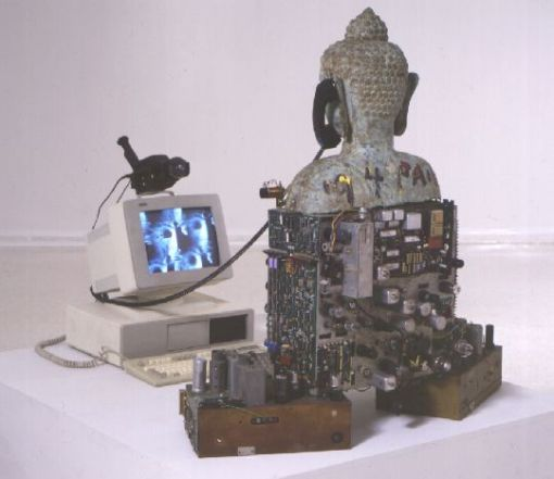 Techno-Buddha by Nam June Paik